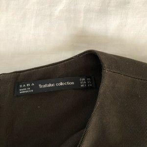 Zara Dresses - Zara dark olive green short dress